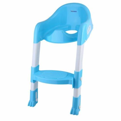 Trainer Potty Chair Toddler w/ Ladder Step Up Training Stool BE