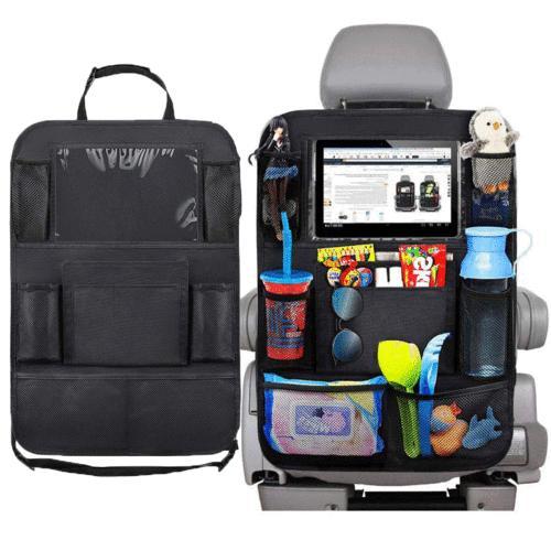 Kids Baby Kick Mat Car Seat Back Storage Bag Multi Pocket Or