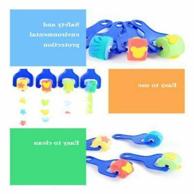 Kids Sponge Brush Roller Toys Baby DIY Paintbrush Drawing Ar