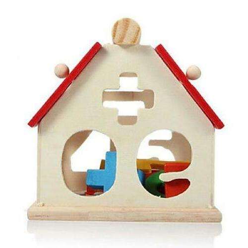 Kids Wooden House Puzzle Educational Toys