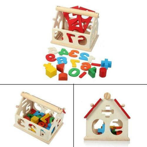 kids baby wooden wood house puzzle numbers