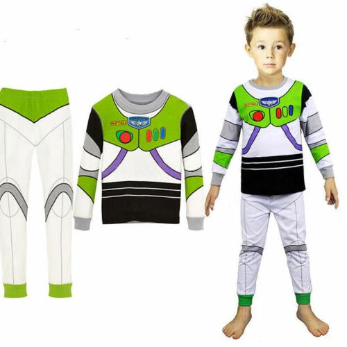 Toddler Toy Story Lightyear Woody Sleepwear Set Outfit