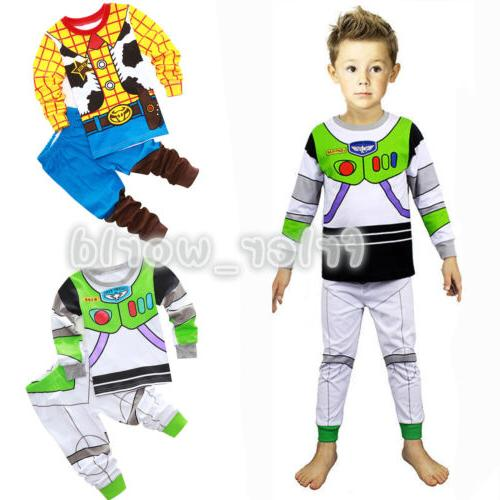 Toddler Baby Toy Buzz Woody Sleepwear Outfit