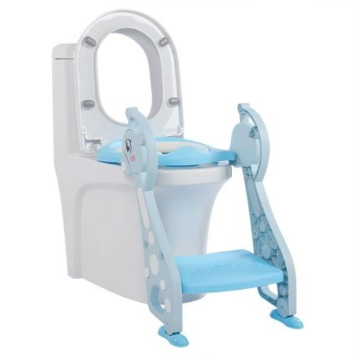 Kids with Stool Toilet Chair Toddler