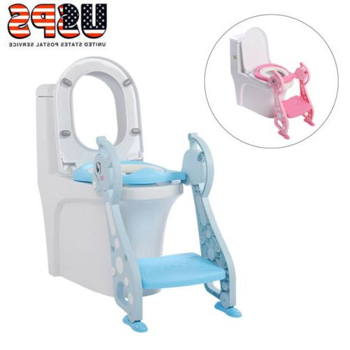 Kids Potty Training Seat with Step Stool Toilet Chair Toddler
