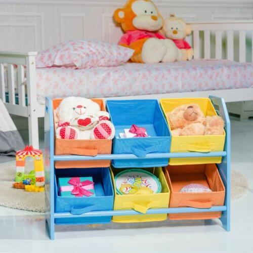 Kids Toddler Toy Storage Colorful Case Bin Organizer