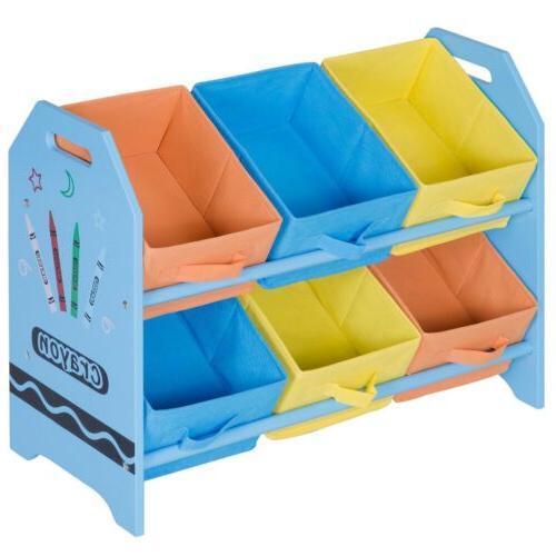 Kids Toddler Child Toy Storage Fabric Case Basket Organizer