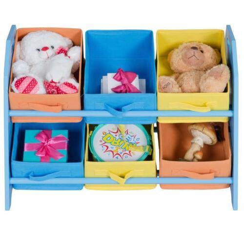 kids toddler child toy storage fabric box