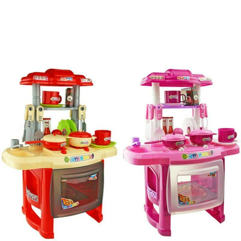 Kitchen Playset Play Kids Pretend Play Toy Toddler Kitchenwa