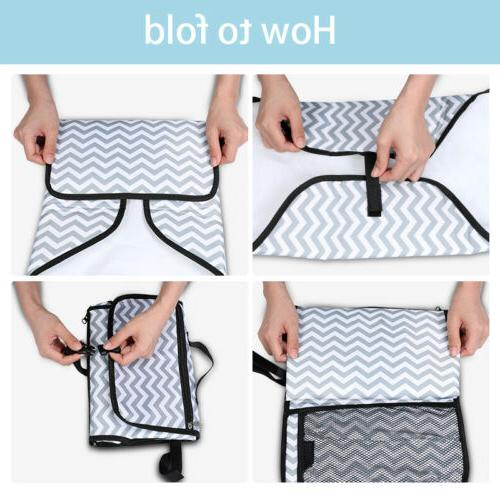 Baby Portable Changing Pad Travel Can Waterproof Foldable