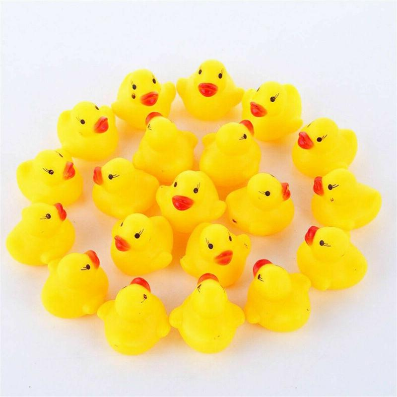 Lot of Yellow Rubber Floating Ducky Toys