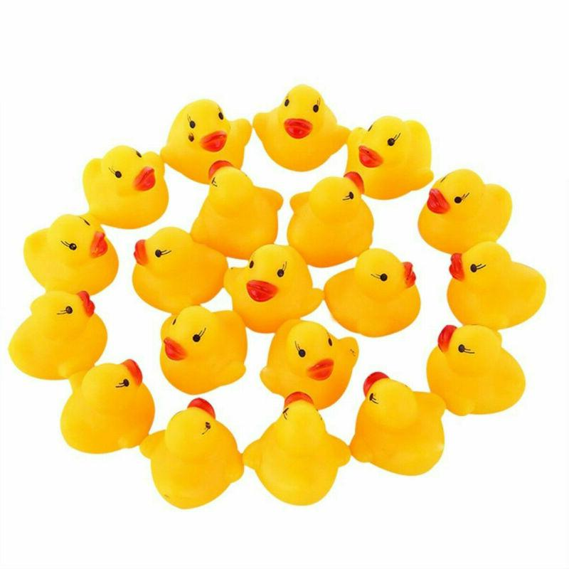 Lot Mini Floating Ducky Baby Shower Toys