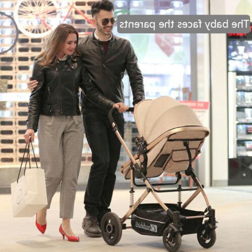 Luxury Newborn Baby Stroller Pushchair High View Car Seats F