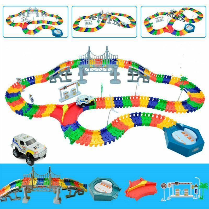 Magic Track Toy Educational Accessories Magic Rail Car Toys
