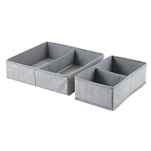 mDesign Closet Towels, Wipes - Set 8 Compartments,