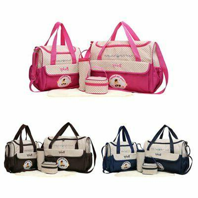 Baby Changing Diaper Mommy Handbag Nappy Bag Bottle Mat Mult