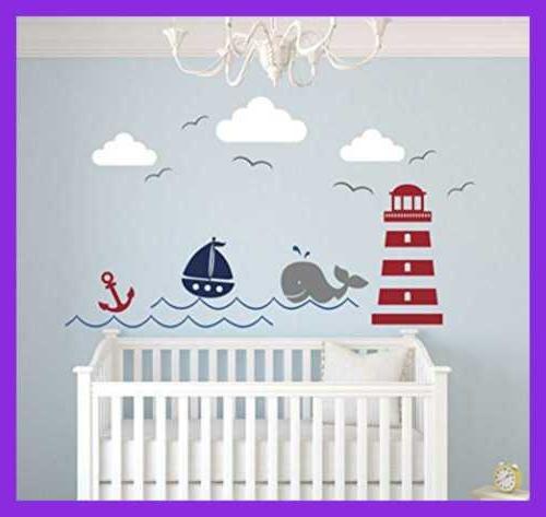 Nautical Decor Nursery Whale Sailboat Vinyl Baby