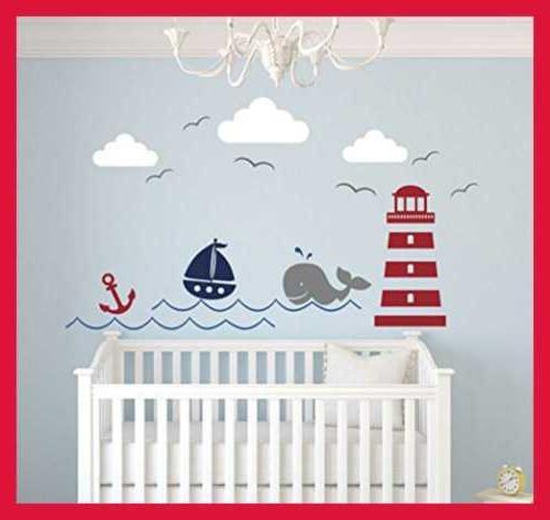 nautical theme wall decal decor nursery whale