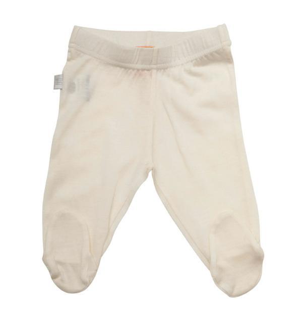 new babu merino leggings with feet cream