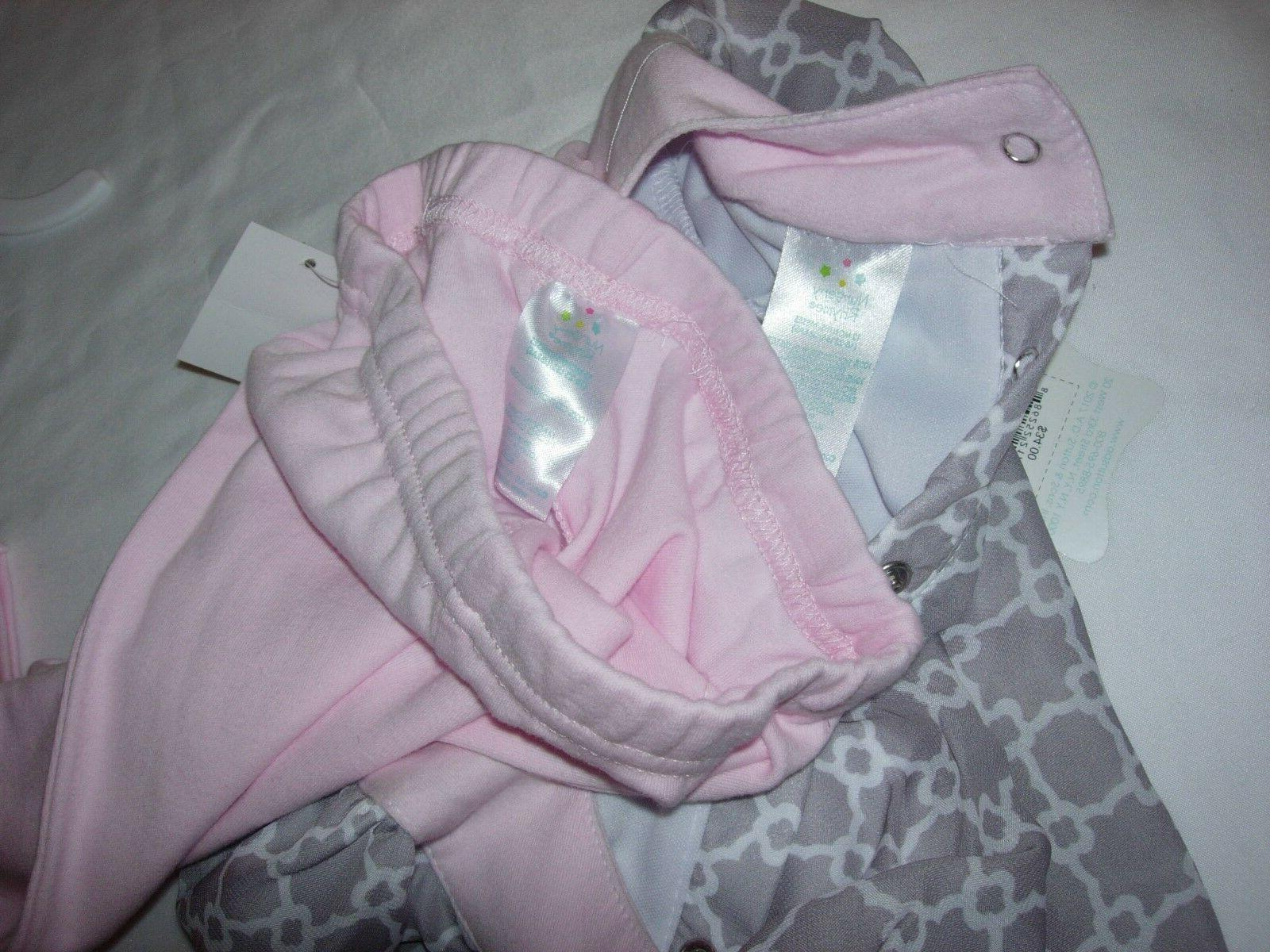 NEW NURSERY BABY GIRL & PANTS NWT