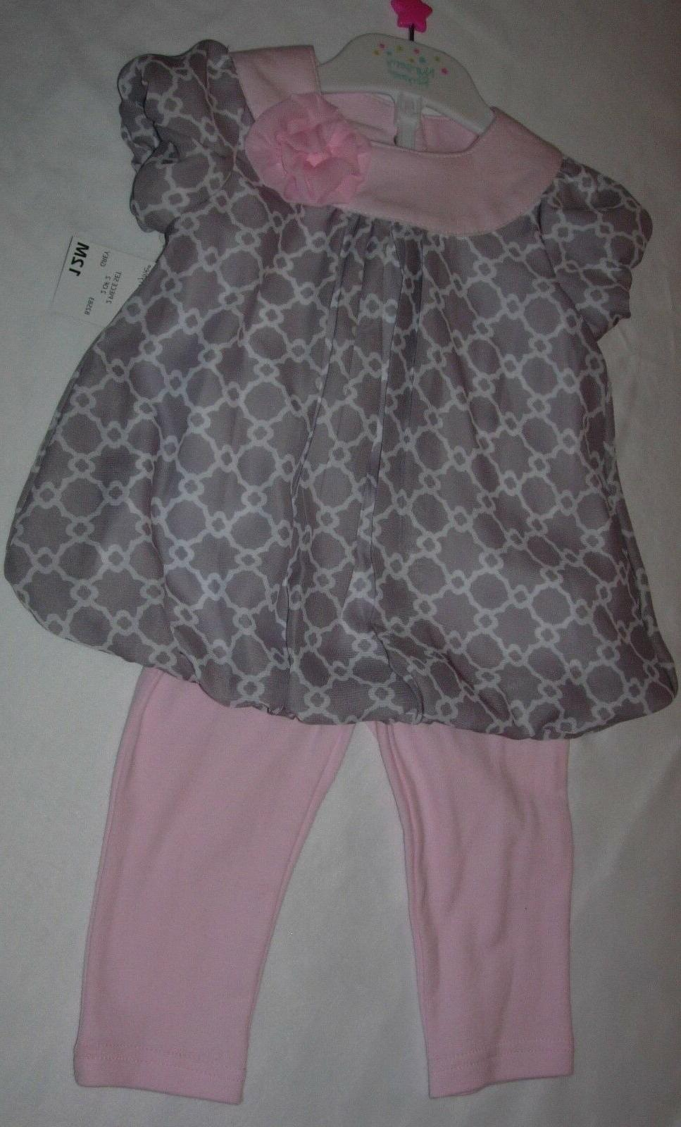 NEW BABY GIRL & PANTS 12M NWT