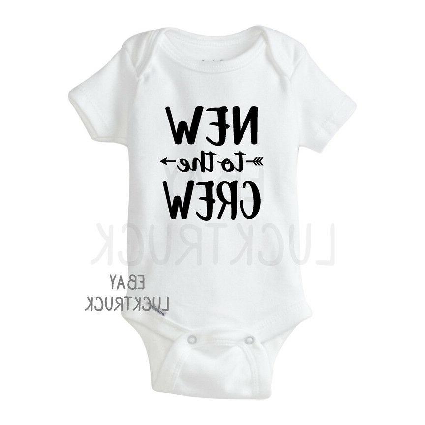 new to the crew custom baby onesie