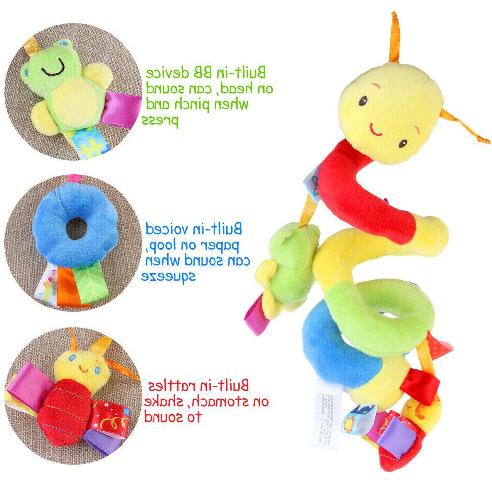 US Activity Spiral Stroller Travel Hanging Baby Rattles Toy