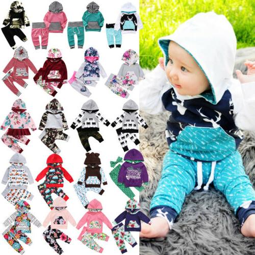 All Boutique Baby Kids Boys Girls Floral Camo Hooded Hoodie