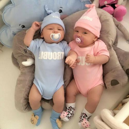 Newborn Infant Baby Boys Girls Cotton Bodysuit Twins Romper
