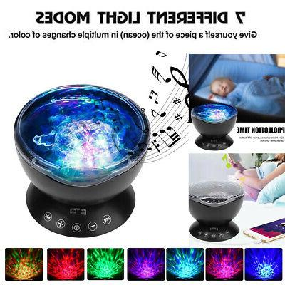 night light projector music player 12 led