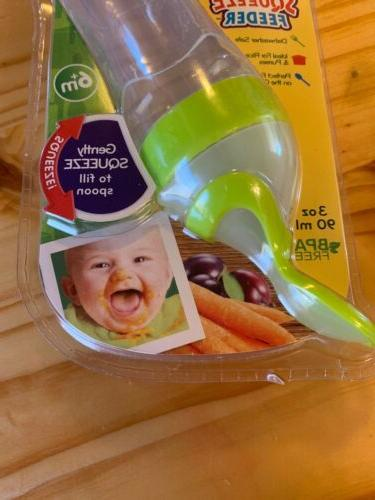 Nuby First Bottle Squeeze Plastic Spoon