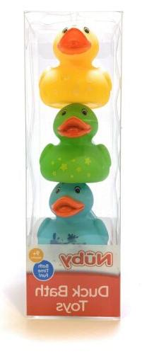 NUBY Duck Bath Toys For 9+ Month, Infant Toddler Rubber Duck