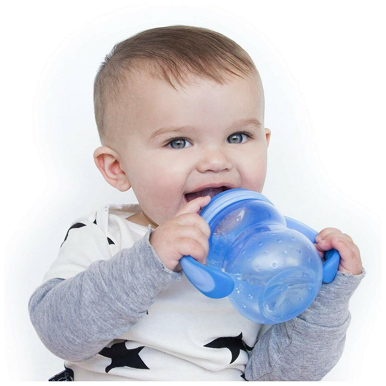 Nuby Non Neck Bottle to Cup 3mo+ 8oz Sippy