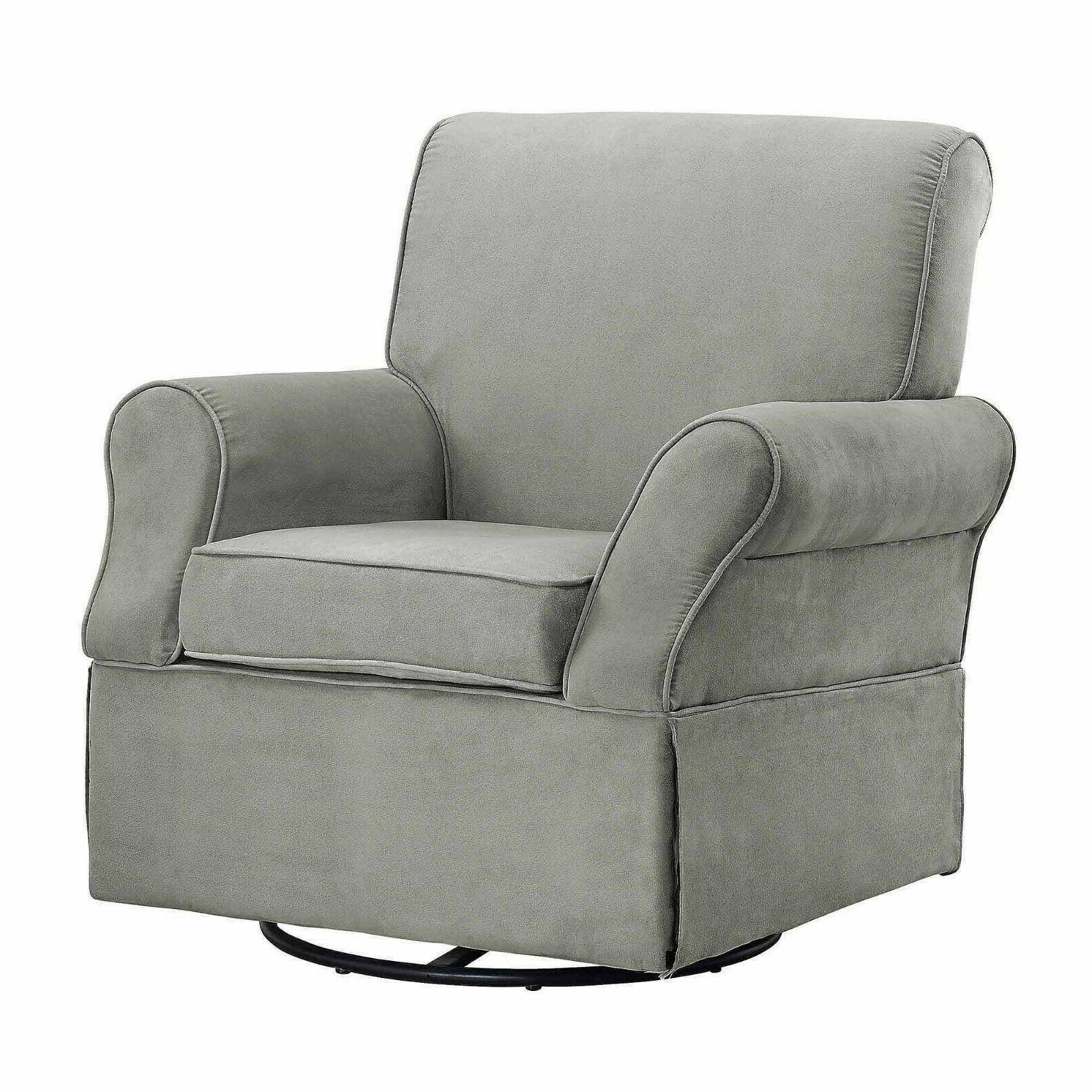 Nursery Glider Chair Swivel Nursing Lounge Home Furniture