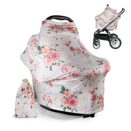 Baby Infant Stroller Car Seat Scarf Nursing Breastfeeding Pr