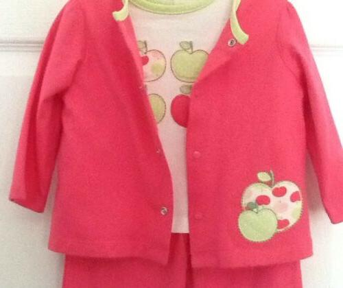 NWOT!-Nursery Girl Shirt, Jacket-Apple Appliques