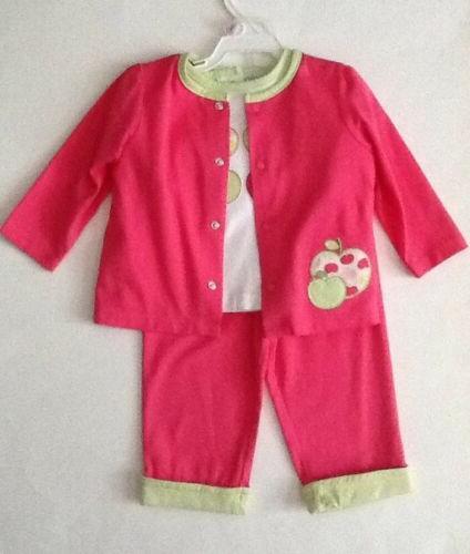 NWOT!-Nursery Shirt, Jacket-Apple Appliques