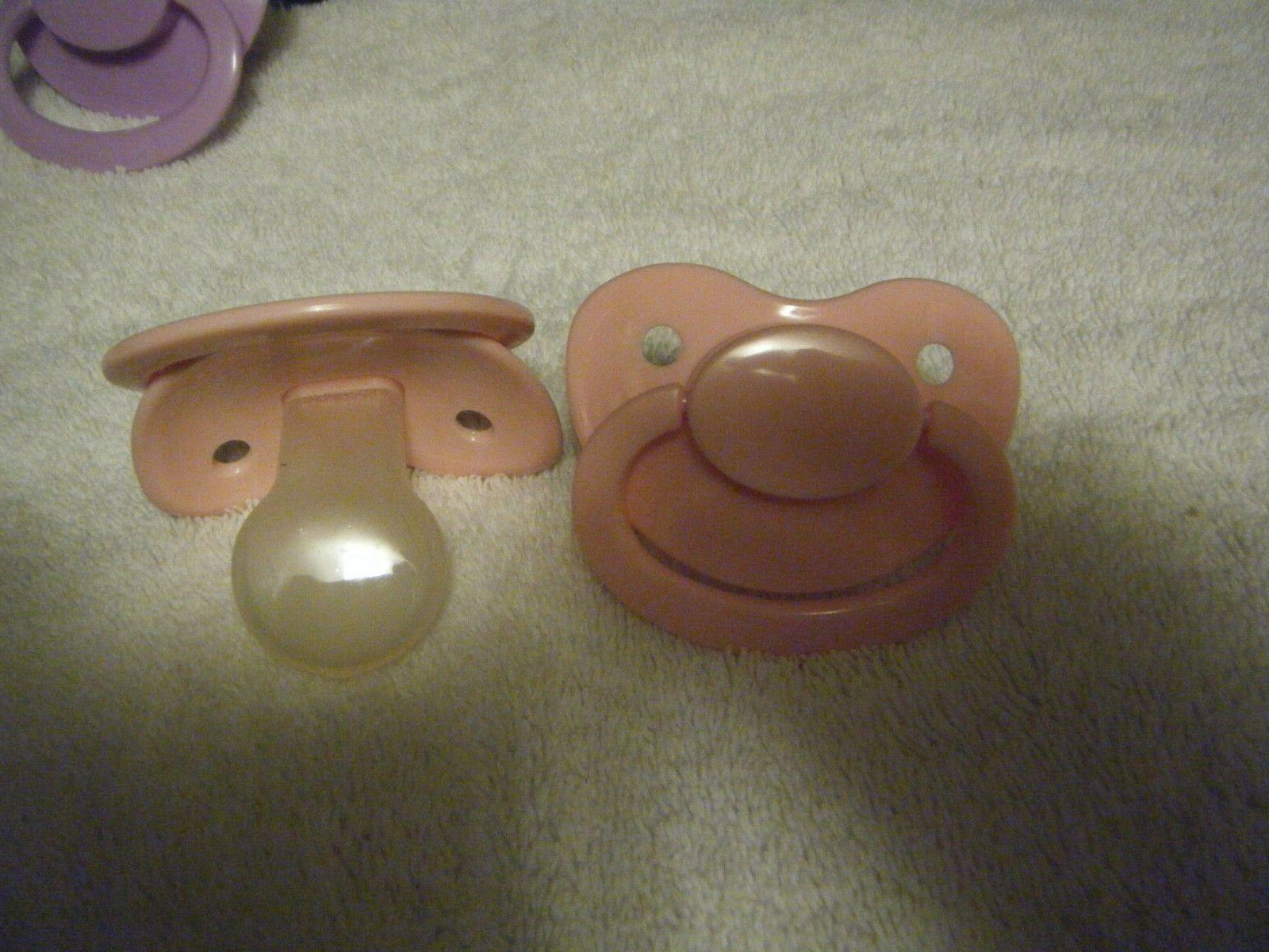 PACIFIER SILICONE, SIZE 6, ADULT, OVER SIZED COLORS
