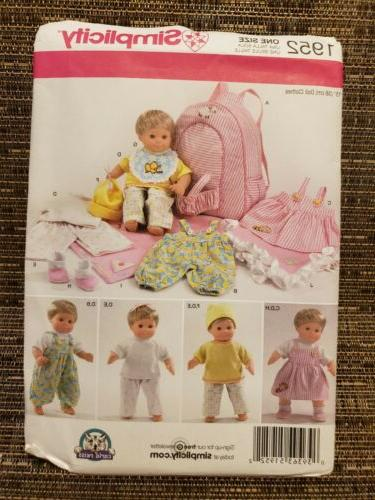 pattern 1952 15 baby doll clothes blanket