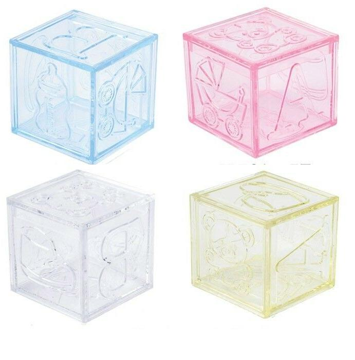 plastic blocks baby shower favors birthday party
