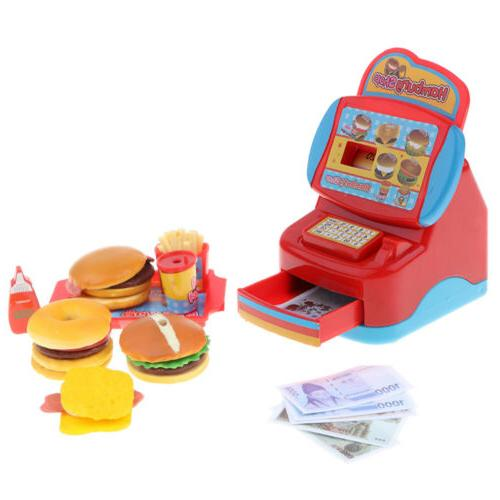 Plastic Fast-Food Restaurant Kit Pretend Play Toy for Kids T