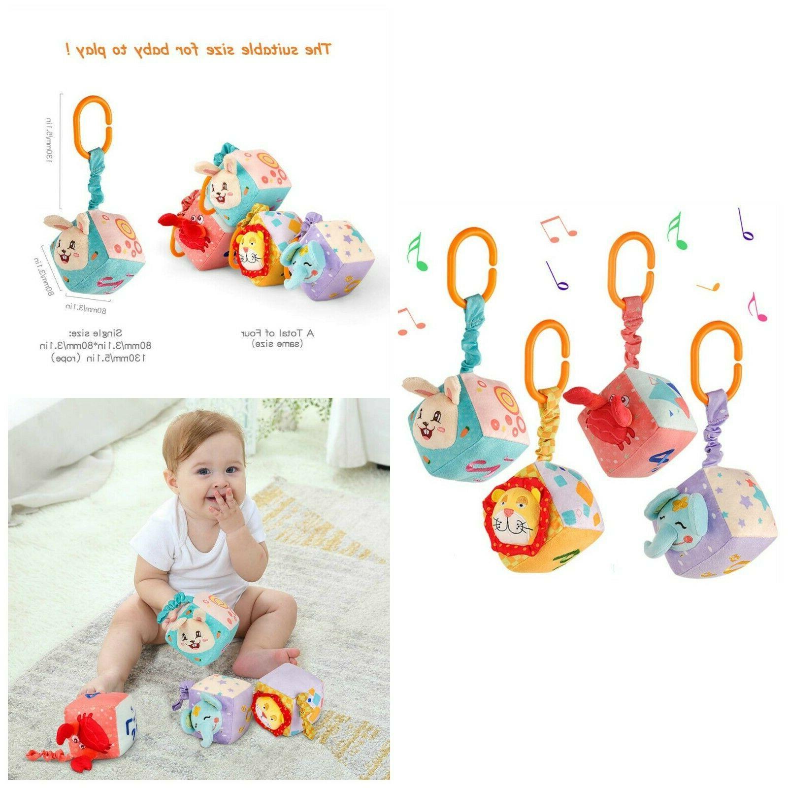 Plush Hanging Baby Toys Newborn Crib Bed Stroller Educationa
