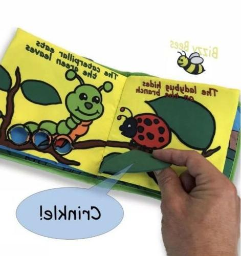 Plush Stuffed Bunny Cloth Soft Book, Baby 1 Year