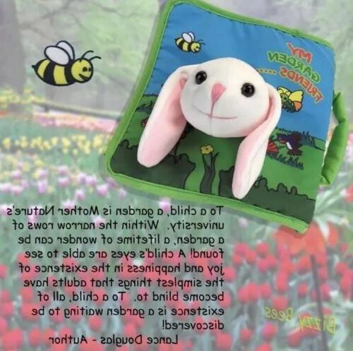 Plush Bunny Rabbit Cloth Soft Book, Toddler Year Old
