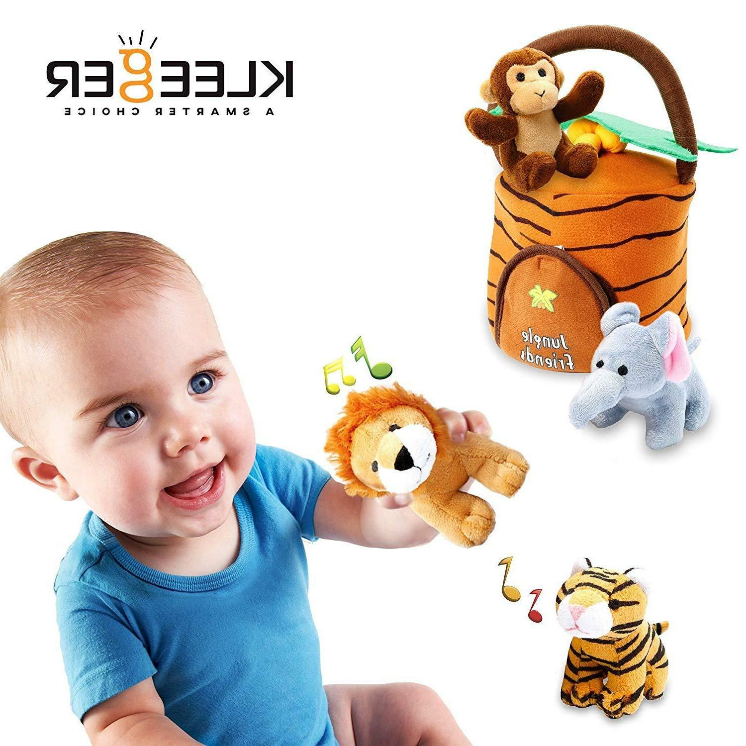 Plush Talking Jungle Toy Carrier for Kids
