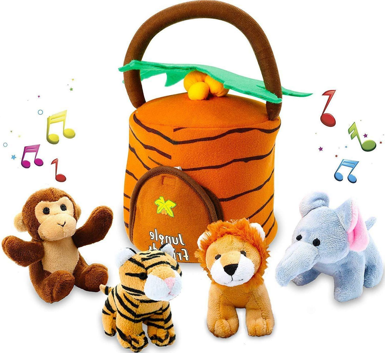 plush talking jungle animals toy set 5