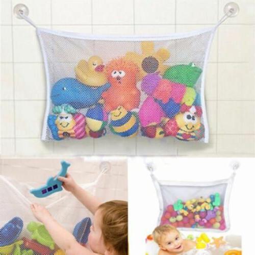 Baby Toy Tidy Suction Cup Storage Bag Mesh Net Bathroom Orga