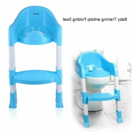 Trainer Toilet Potty Seat Chair Kids Toddler w/ Ladder Step