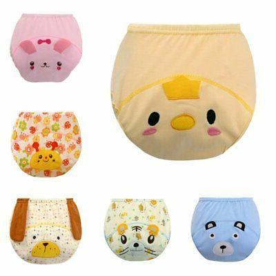 Baby Boys Girls Training Pee Potty Cloth Diaper Pants Nappy