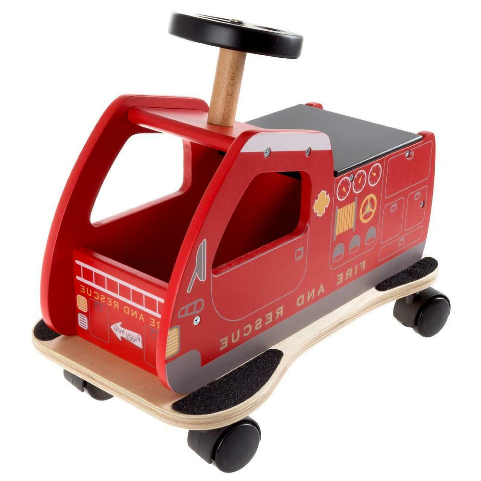 Ride-On Fire Truck Toy Kids Toddler Child Sturdy Wheel Gift